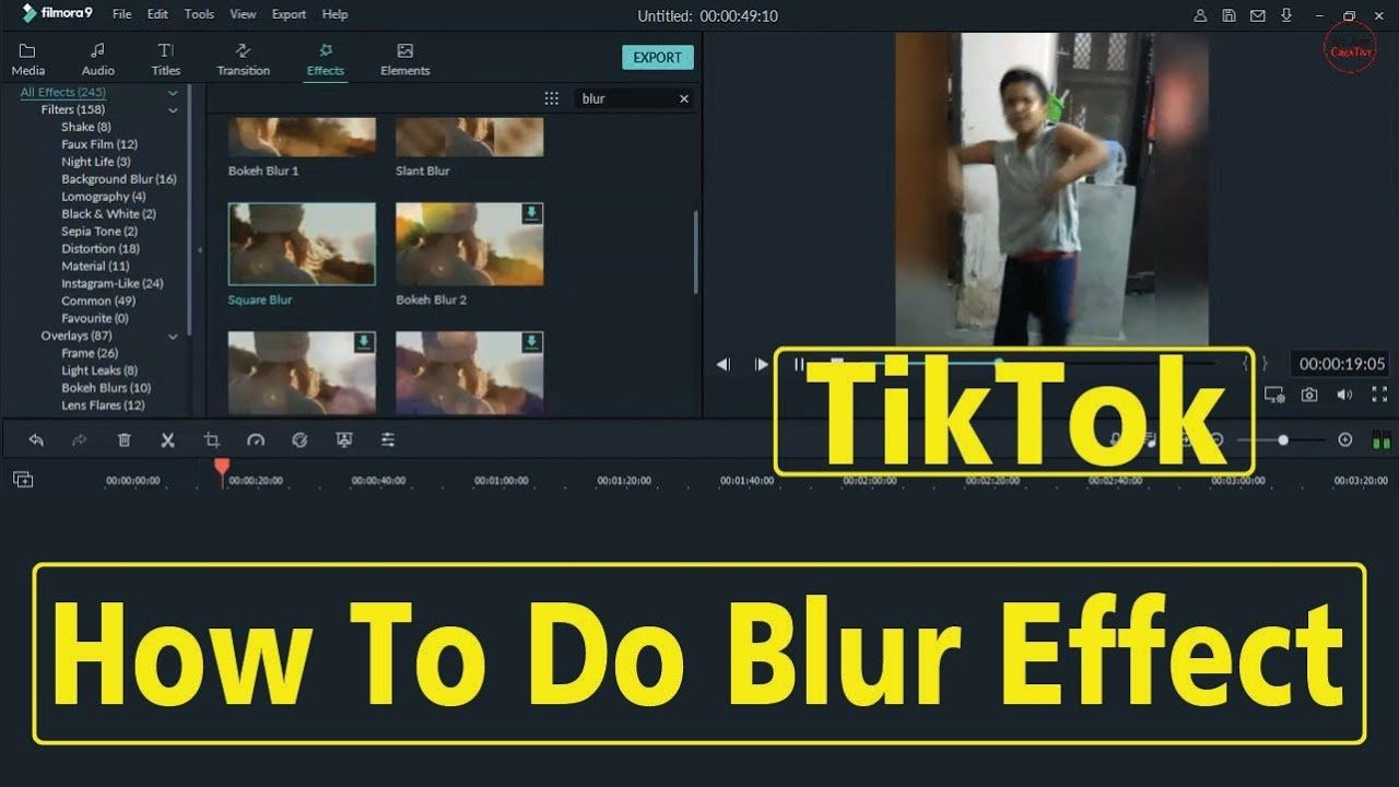 How To Make Blur Video Background In Filmora 9 For Tiktok In Hindi Video Background Hindi Video