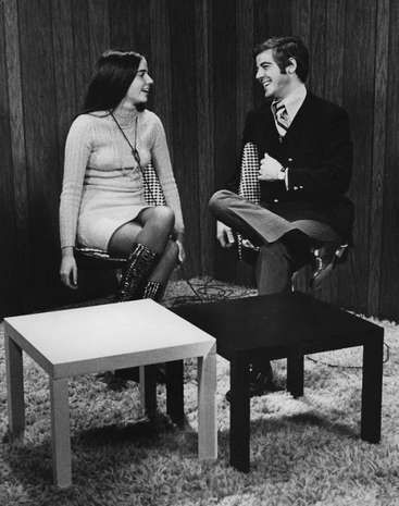 Nick Clooney at channel 9, 1972.