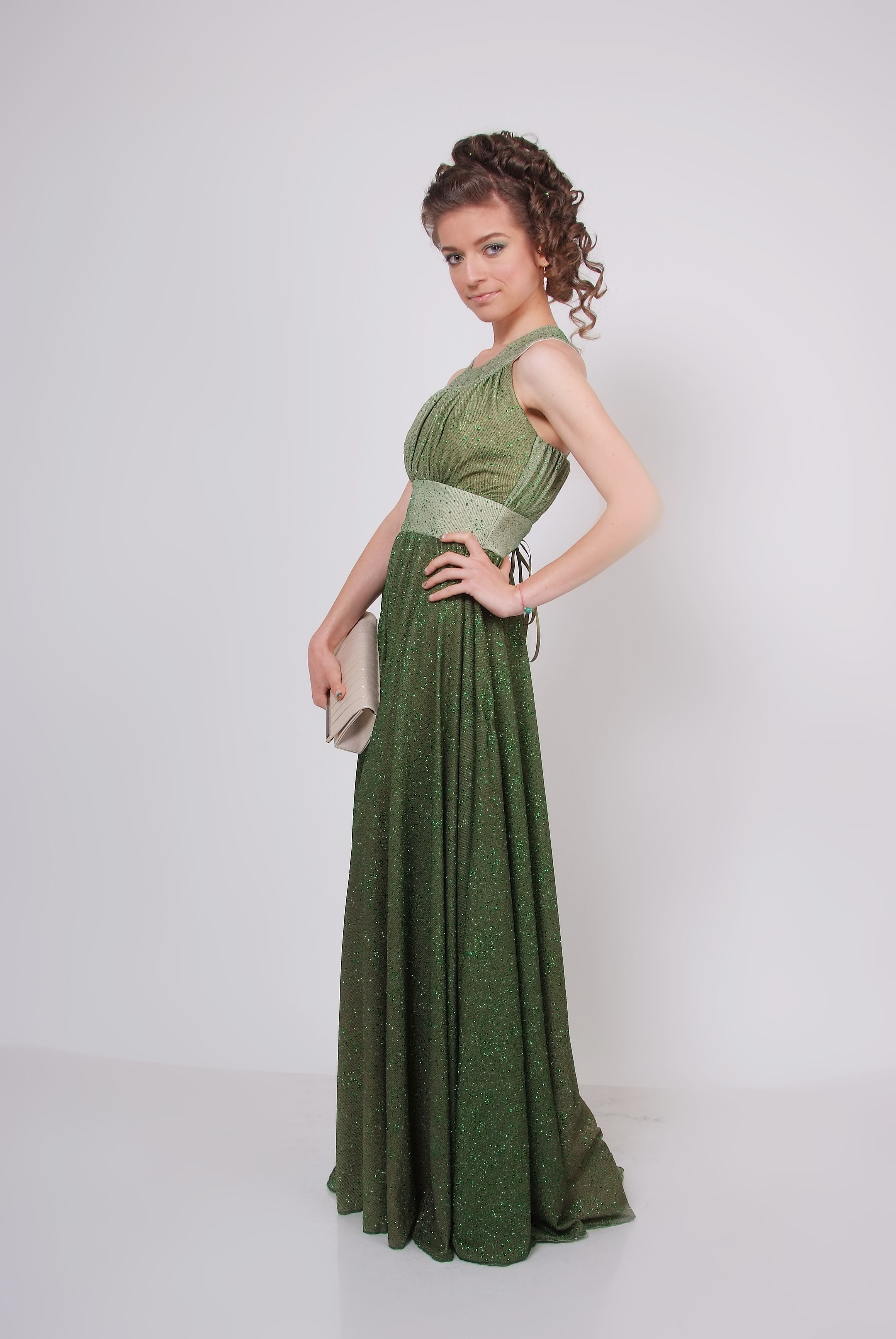 Green Greek Style Prom Dress And Haisrtyle Fashion Pinterest