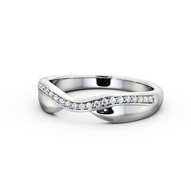 IGI Certificate Curved Round Diamond Half Eternity Wedding