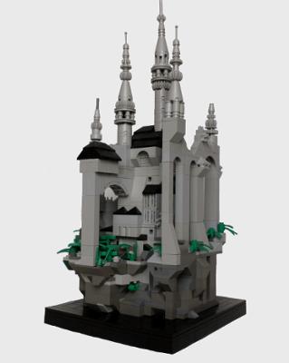 Microscale Gothic Castle   Lego   Pinterest   Lego, Lego ...