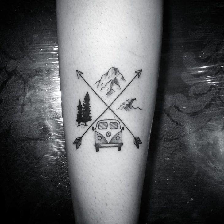 Tatuagem de flecha: significados e 65 ideias encantadoras [FOTOS]