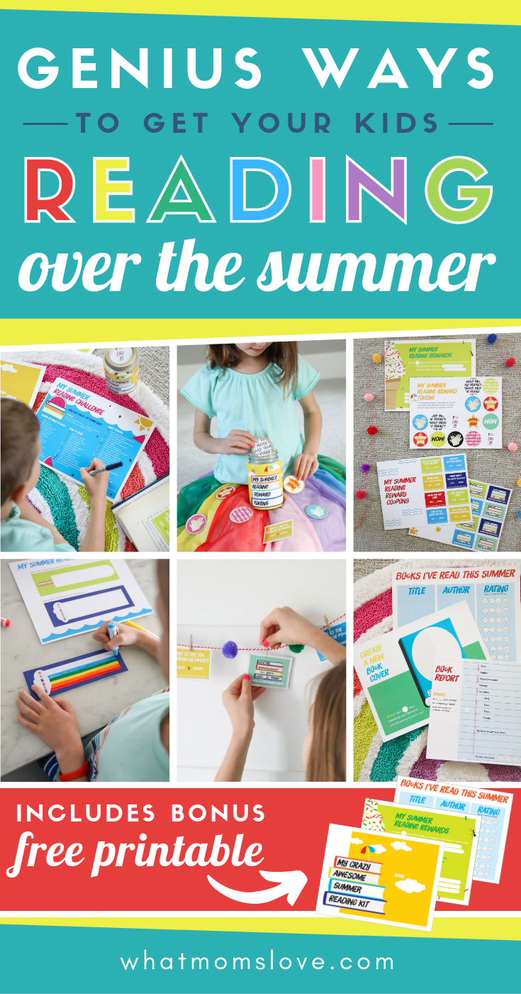 How To Get Your Kids To Read This Summer With Free Printable Summer Reading Kit Summer Reading Challenge Summer Reading Summer Activities For Kids