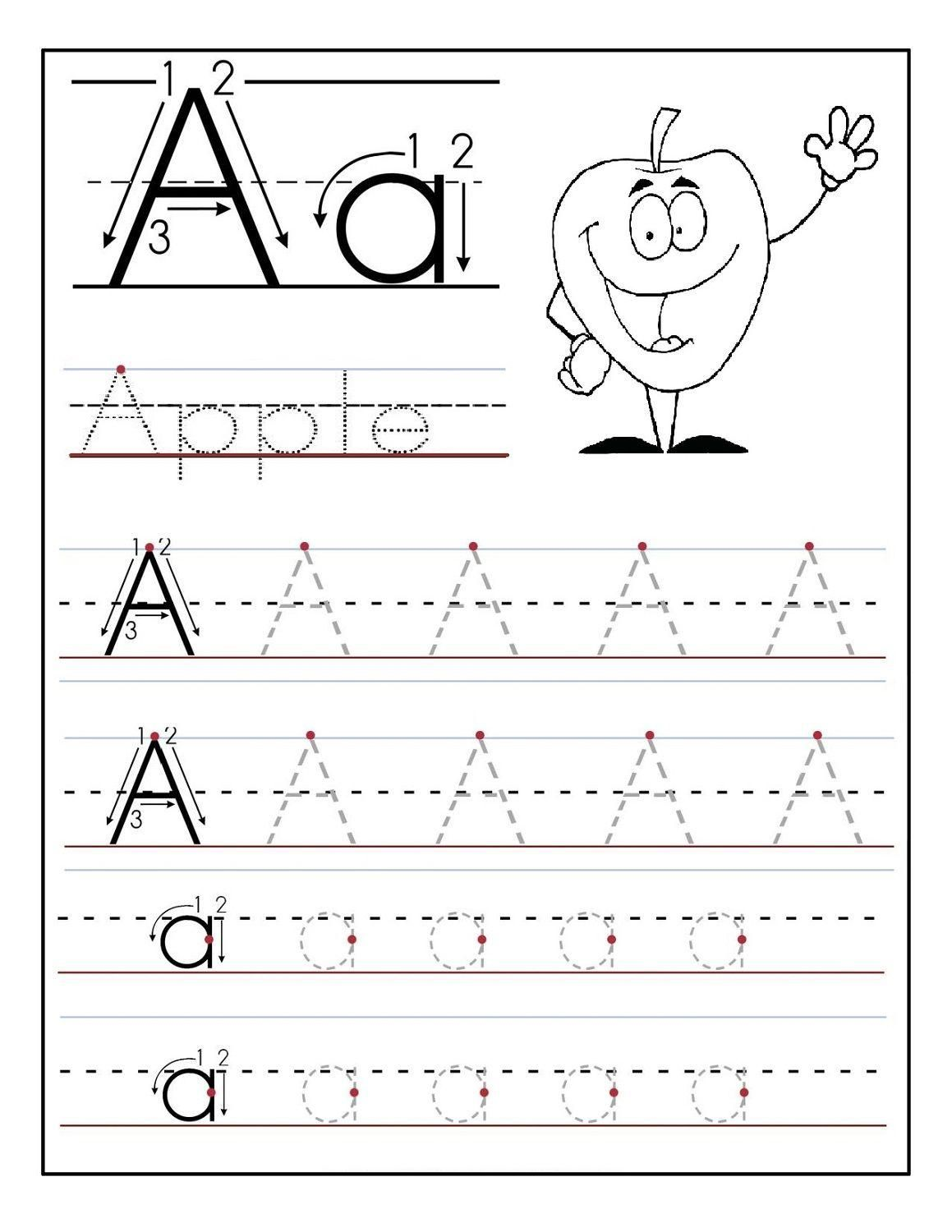 Free Traceable Alphabet Worksheets For Preschoolers In