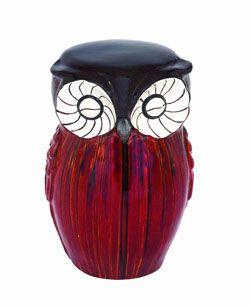 Ellison Owl Figure Ceramic Stool Ceramic Owl Ceramic Stool