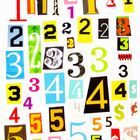 Printable magazine cutout numbers 1-9 for math centers and early number learning - or arts, crafts and scrapbooking!