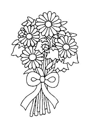 Ausmalbild Blumenstrauß zum Ausmalen. #Ausmalbilder | # ...