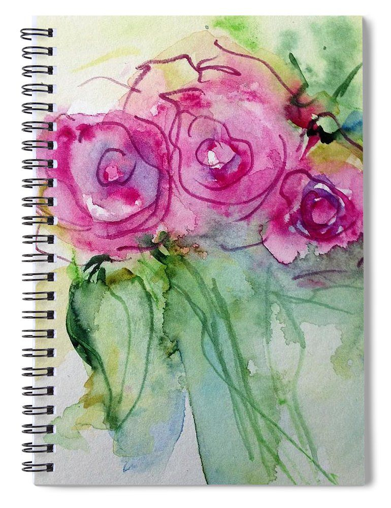 Abstract Roses Spiral Notebook For Sale By Britta Zehm Rose Art