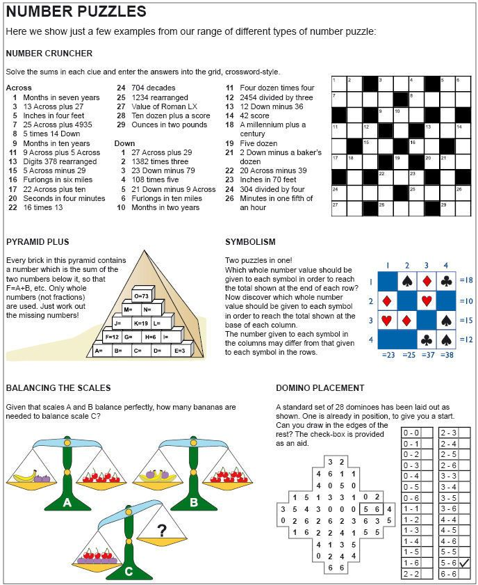 Number Puzzle Examples Number puzzles, Number cruncher