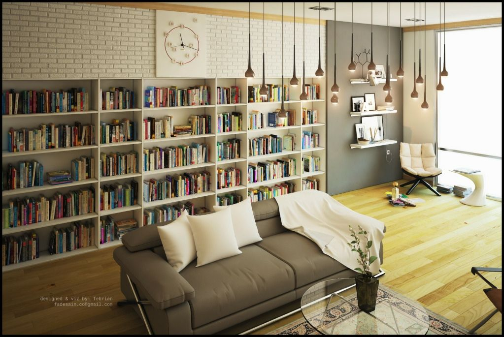 Modern Library Design Maison Bibliotheques Privees Design