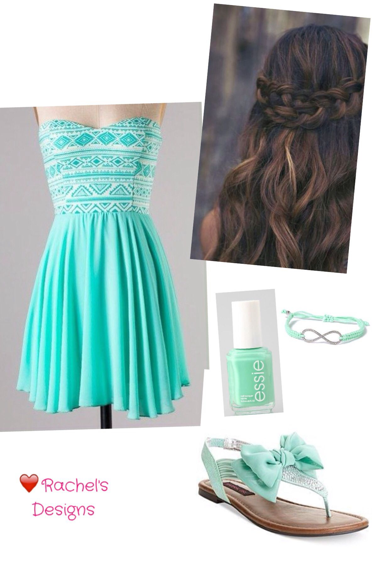 Mint Aztec Dress Would Be A Very Pretty Outfit For A Dance