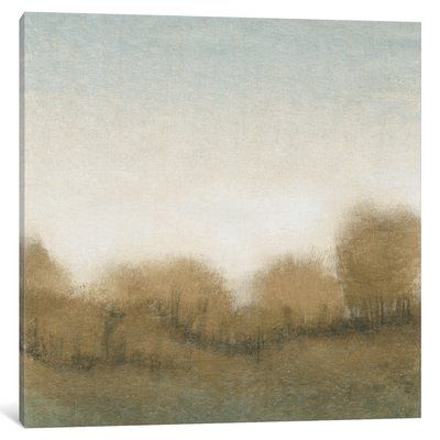 "East Urban Home 'Golden Treeline I' Painting Print on Wrapped Canvas Size: 37"" H x 37"" W x 0.75"" D"