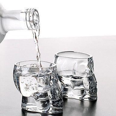 mini kristallen schedel hoofd kopje wodka shot glas whisky drinken ware voor thuis bar – EUR € 3.29
