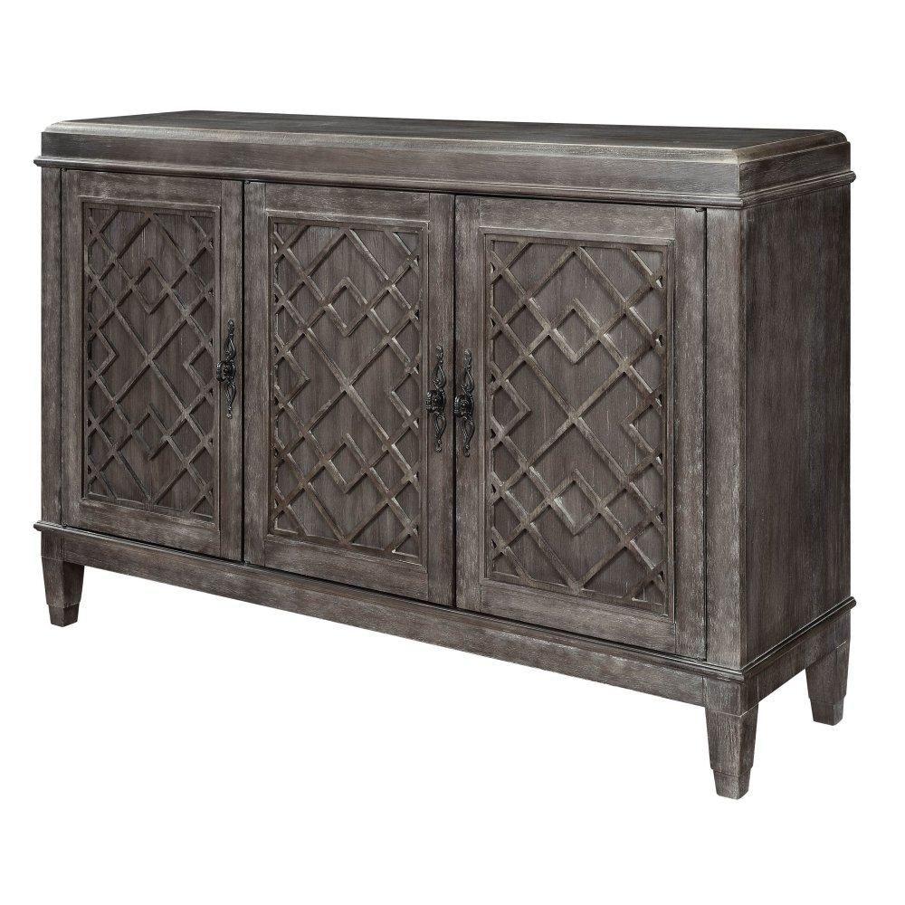 Acme Furniture 70418 Godeleine Grey Wood Finish Server Acme