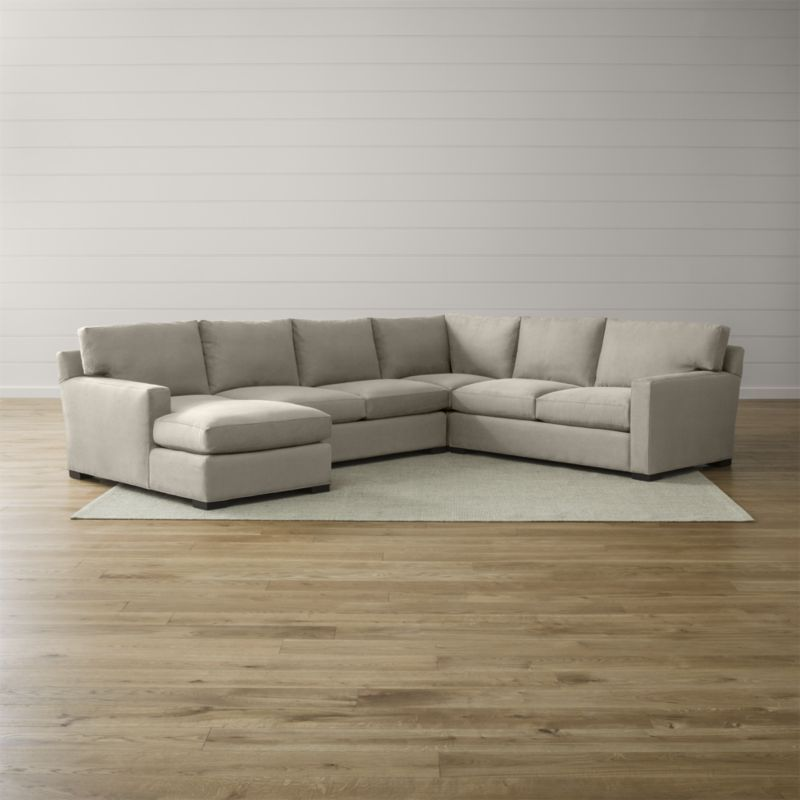axis ii 4 piece sectional sofa casual living rooms arms and corner rh pinterest com