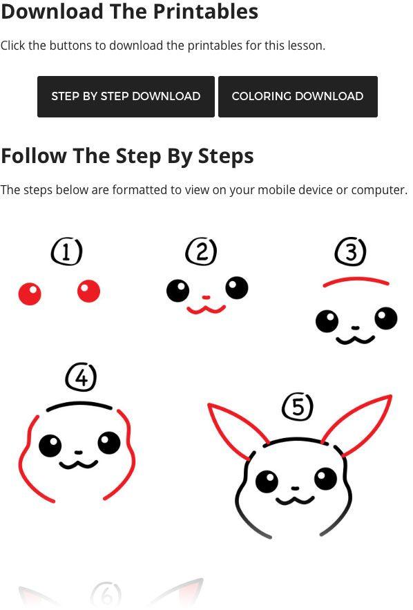 How To Draw Pikachu Art For Kids Hub Pikachu Art Pikachu Art For Kids Hub