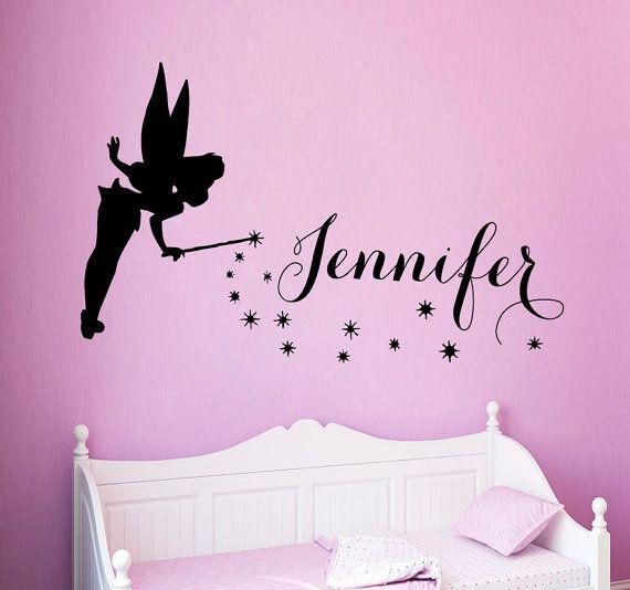 Personalised Girls Name Wall Art Vinyl Stickers Bedroom Transfers Murals Decals