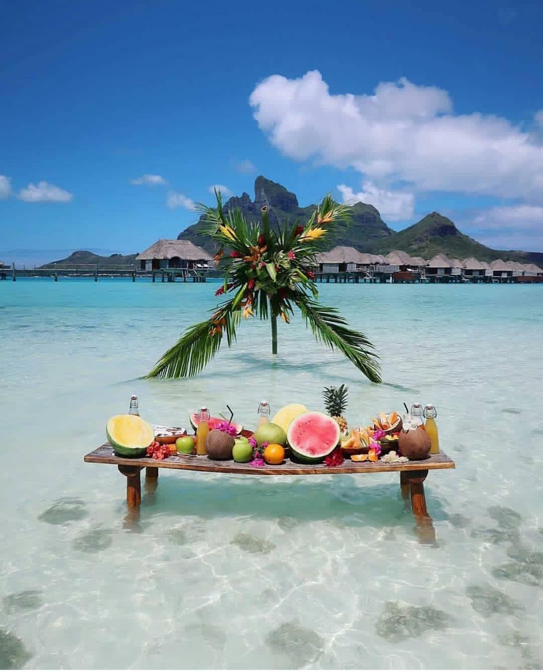 Fancy A Breakfast Bora Bora French Polynesia Picture By Thehotelhunters Wonderful Pla Bora Bora French Polynesia Wonderful Places Bora Bora