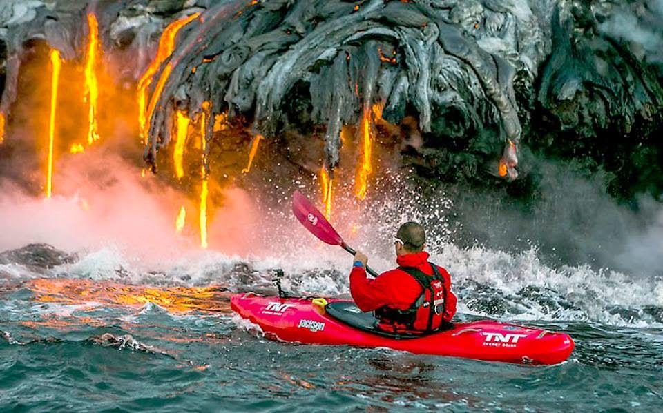 Kayaking Amongst Kalapana Lava Flows In Hawaii Kayaking