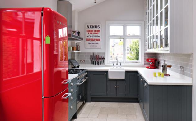 Retro Kühlschrank Rot : Retro kühlschrank bringt stimmung und zauber in die küche mit