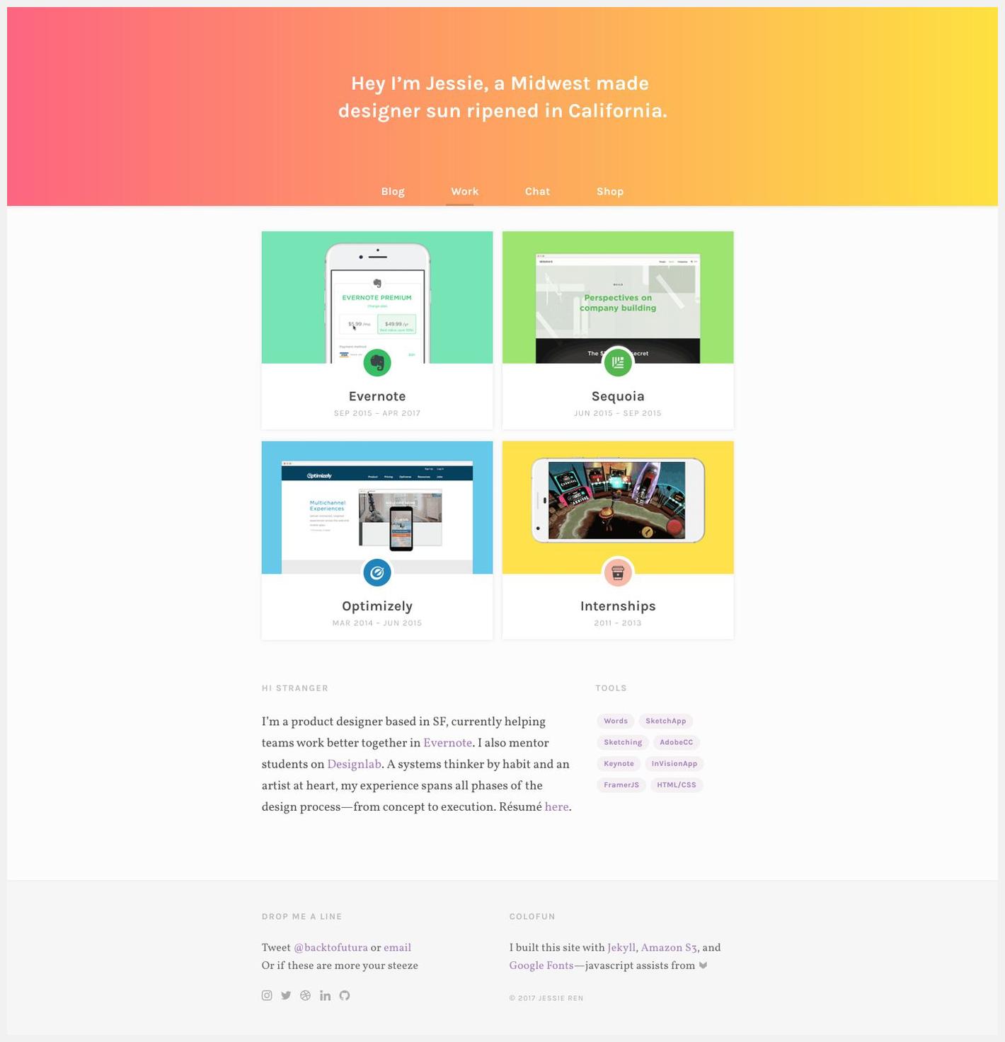 10 Fantastic Portfolio Websites From Silicon Valley Design Leads Portfolio Website Design Portfolio Inspiration
