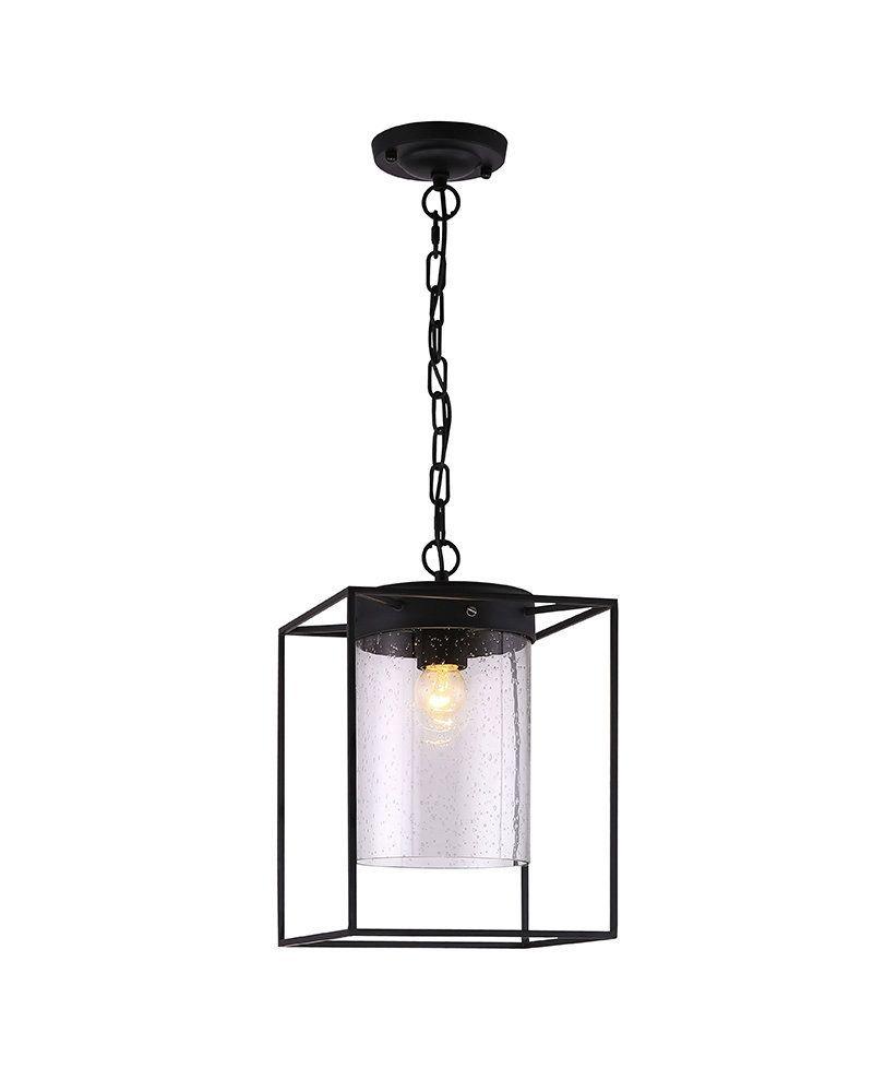 retro industrial style pendant light with matte black metal box rh pinterest com