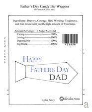 FatherS Day Candy Bar Wrapper Printables  Candy Bar Wrappers