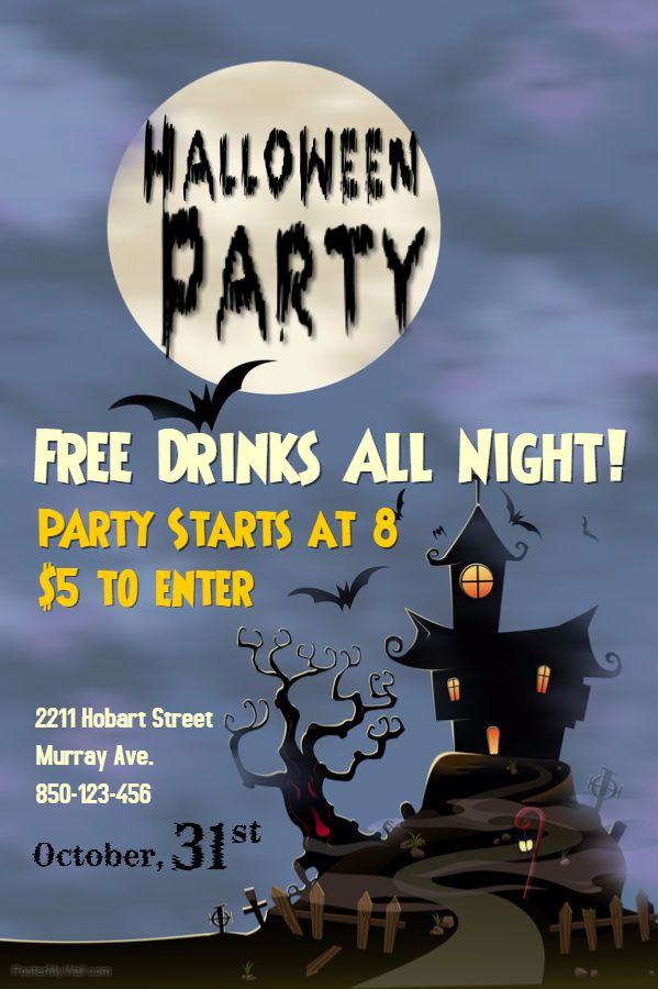 6 Fantastic Themes For Your Halloween Posters Halloween Party