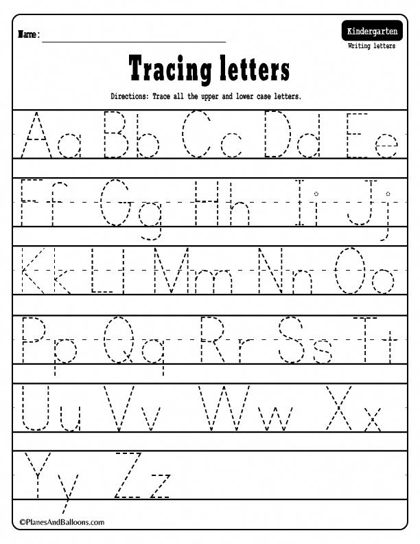 Alphabet tracing worksheets AZ free printable bundle