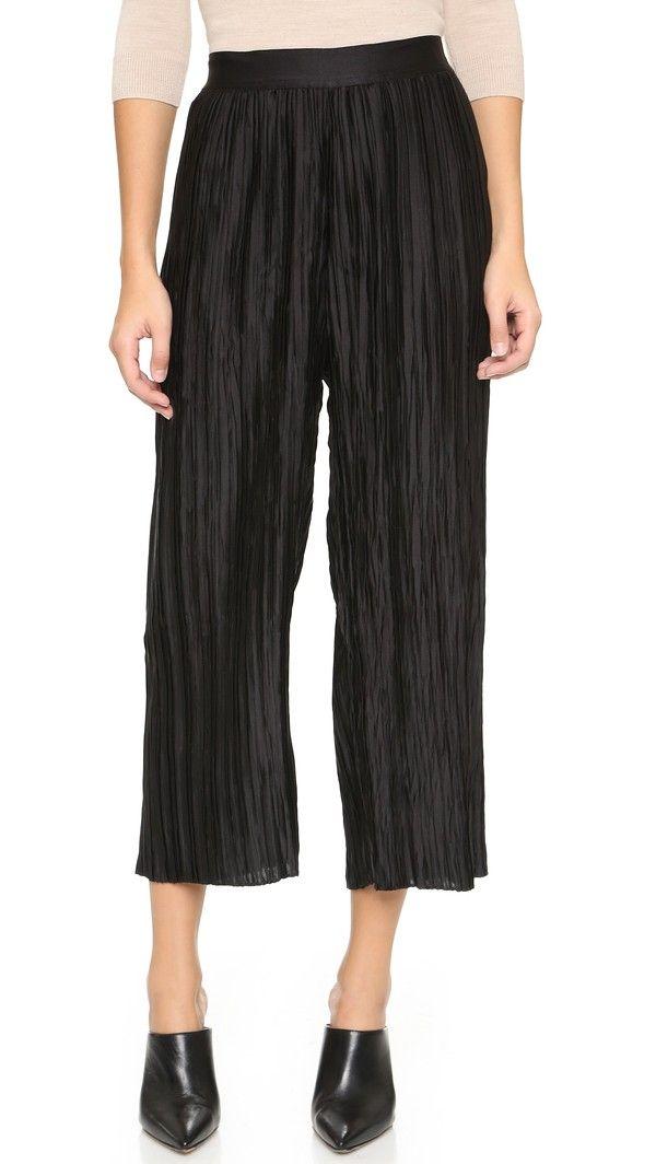 6a50a04b1fd Zimmermann Empire Plisse Pants - Black | FashionToDieFor