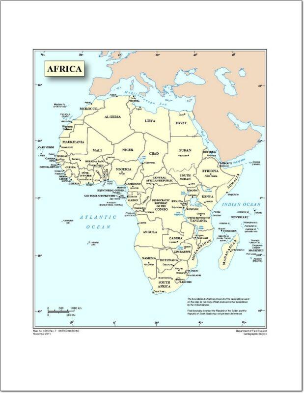 Mapa De Paises Y Capitales De Africa Naciones Unidas Didactalia