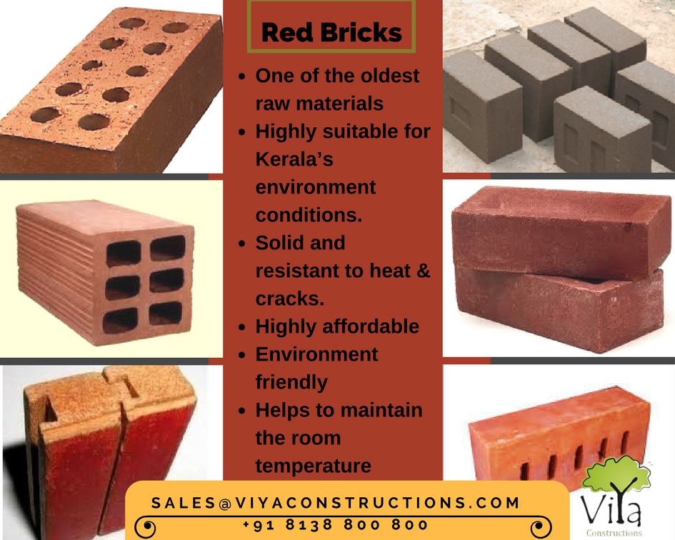 Red Bricks Used In Building Construction In Kerala Types