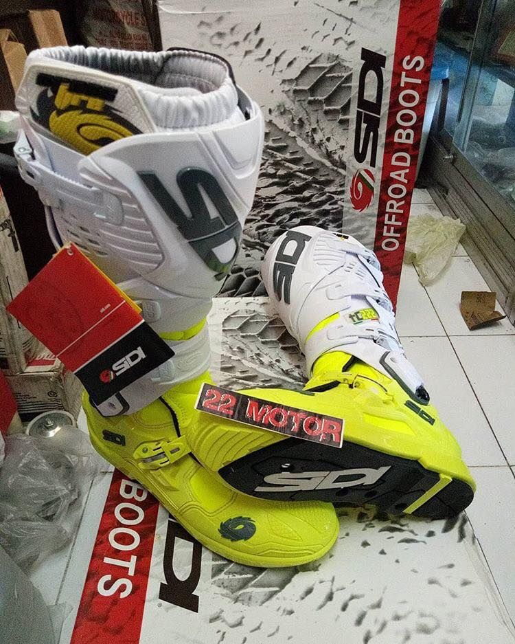 Sidi Crossfire 3 SRS Boots White Black Fluo Yellow Now 22