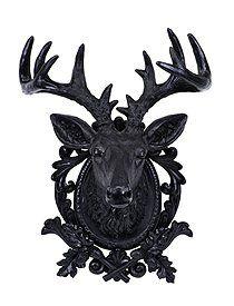 Cool Hirschkopf Wanddeko Sehr dekorativ Der schwarze Hirschkopf f r die Wand