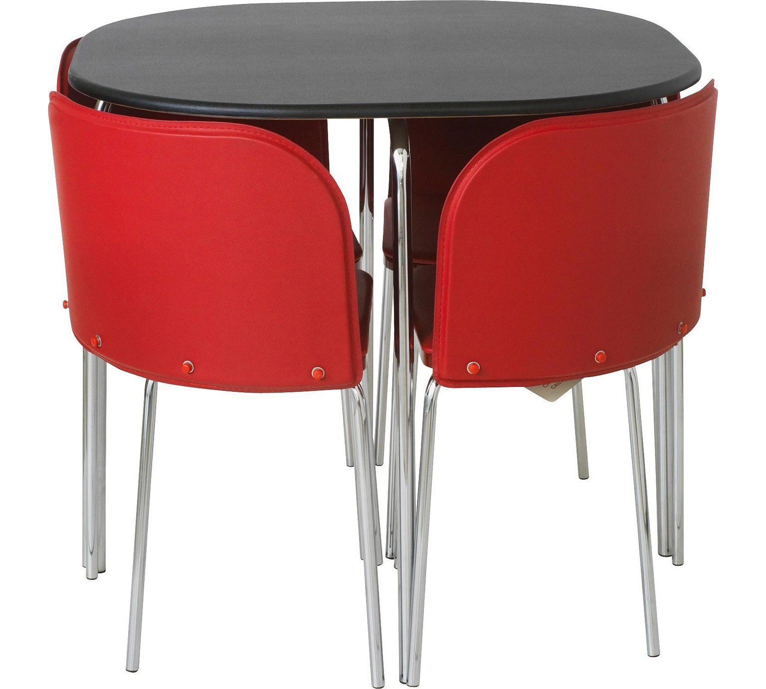 buy hygena amparo black dining table 4 chairs red at argos co uk rh pinterest co uk