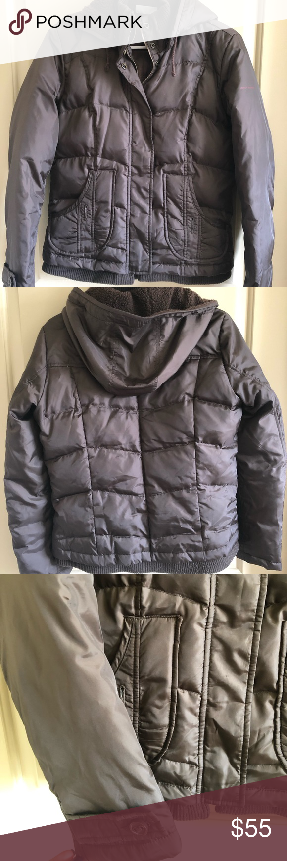 Dkny Brown Winter Jacket Brown Puffer Jacket Good Used Condition Size Small Dkny Jackets Coats Puffers Winter Jackets Jackets Dkny [ 1740 x 580 Pixel ]