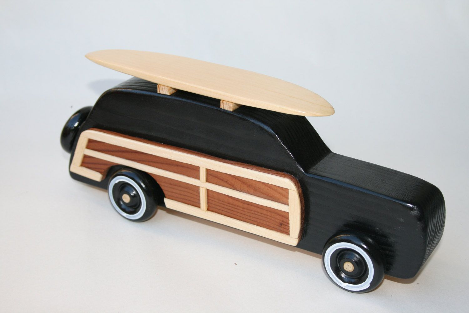 surf woody wagon black with natural wood board bug guts wood toys rh pinterest com