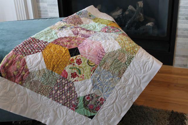 Stitch Away Baby Girl Quilt Modern Quilt