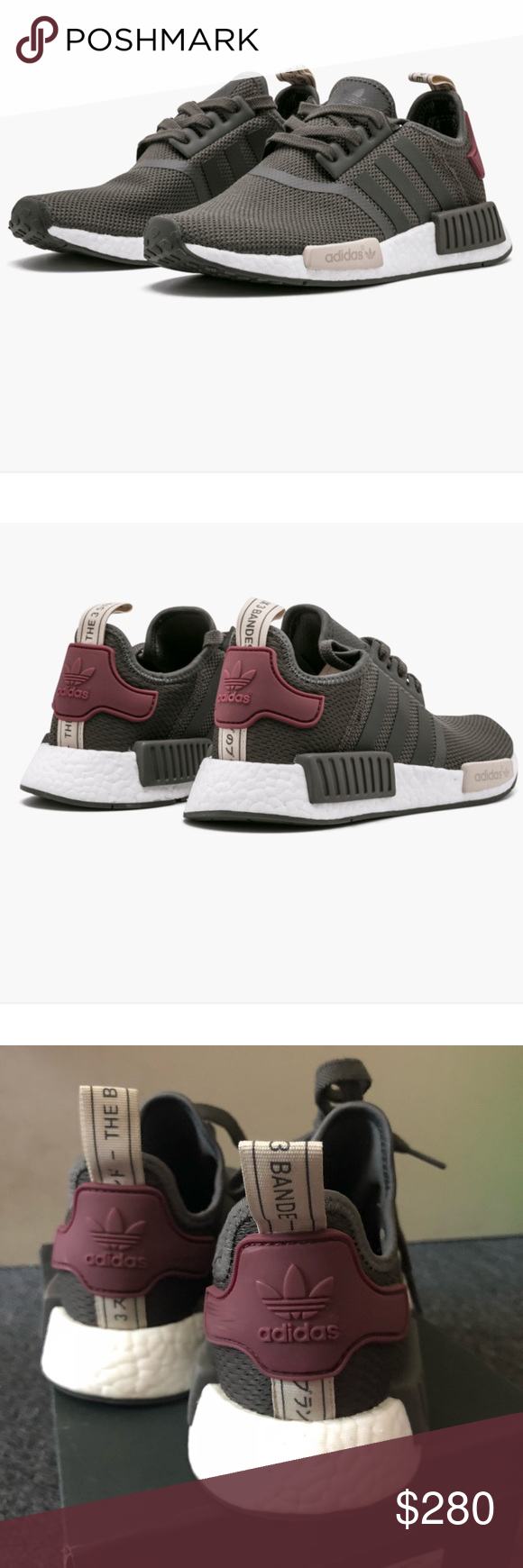 81b84de6 Adidas NMD_R1 Olive green/maroon Purchased from StockX and 100% authentic!  Used about
