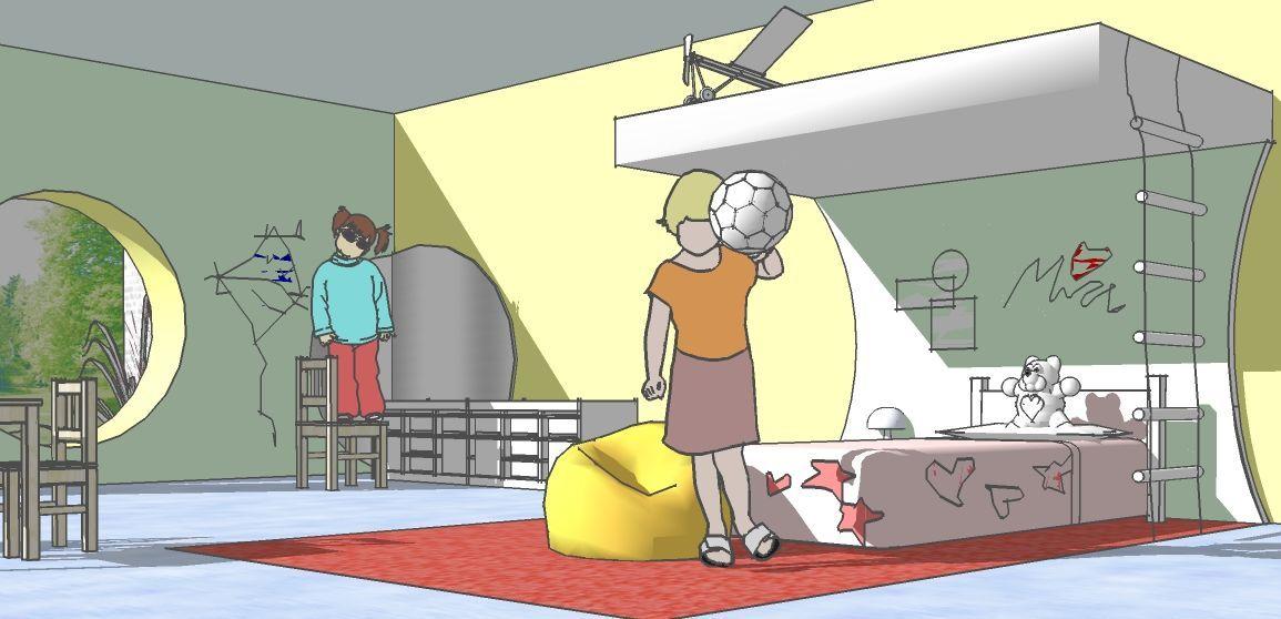 Kinderzimmer Gezeichnet Mit SketchUp