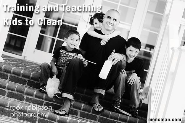 Tips for Training and Teaching Kids to Clean #menclean