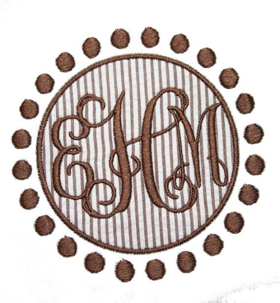 Dots circle patch applique shown with our quot intertwine