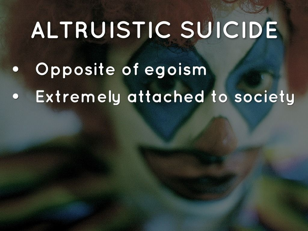 what is altruistic suicide