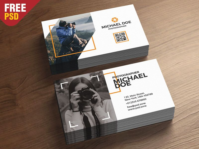 Photography Business Cards Template PSD | Pinterest | Photography ...
