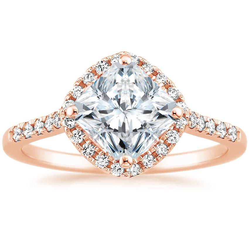 Radiant Cut Cometa Diamond Engagement Ring - 14K Rose Gold