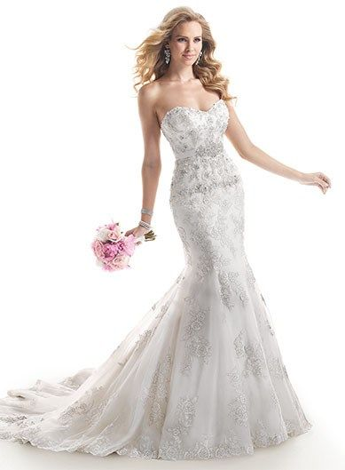 Maggie Sottero Beaded Mermaid Dress