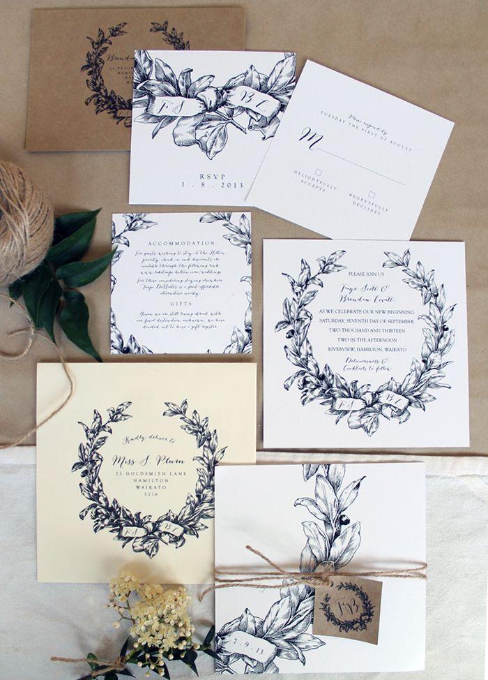 wedding celebration invitation%0A JustMyTypeNZWeddingStationeryblackand