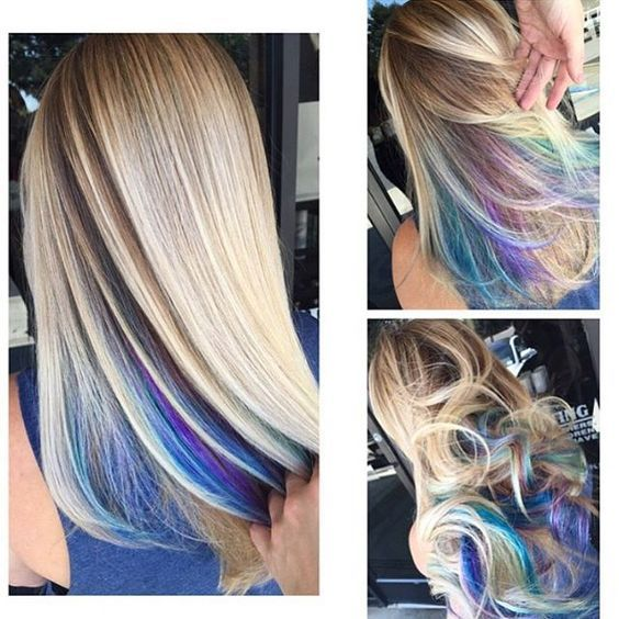 How You Can Wear Rainbow Hair To Work Couleur Cheveux Cheveux