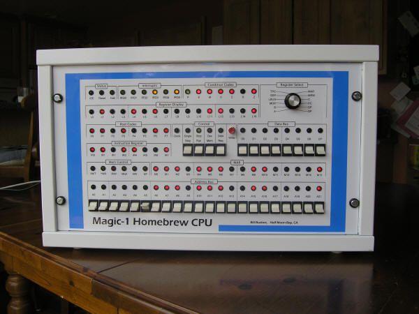 bill buzbee s magic 1 computer with a homemade cpu built from 74 rh pinterest com