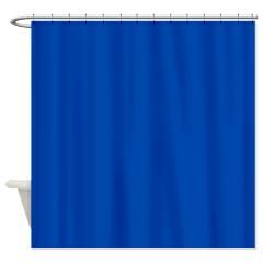 Solid Cobalt Blue Shower Curtain By Leatherwood Bedroom Shop